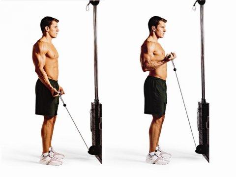 Упражнение 4 - подъем блока на бицепс
